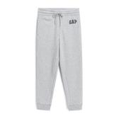 Gap男裝 鬆緊腰抽繩休閒褲針織褲長褲500382-亮麻灰色