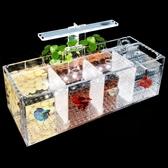 鬥魚缸孔雀魚繁殖孵化隔離盒亞克力專用小組排缸活體桌面生態創意  ATF 極有家
