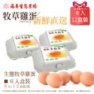 (預購)福壽生態農場牧草雞─雞蛋6入*1...