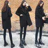 中大尺碼毛呢外套 毛呢外套女冬季學生寬鬆中長款小個子西裝大衣韓版加棉LB7841【3C環球數位館】