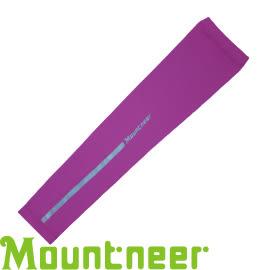 【Mountneer 山林 中性 抗UV反光袖套 紫紅】 11K99/防曬袖套/防曬手套/自行車/機車★滿額送