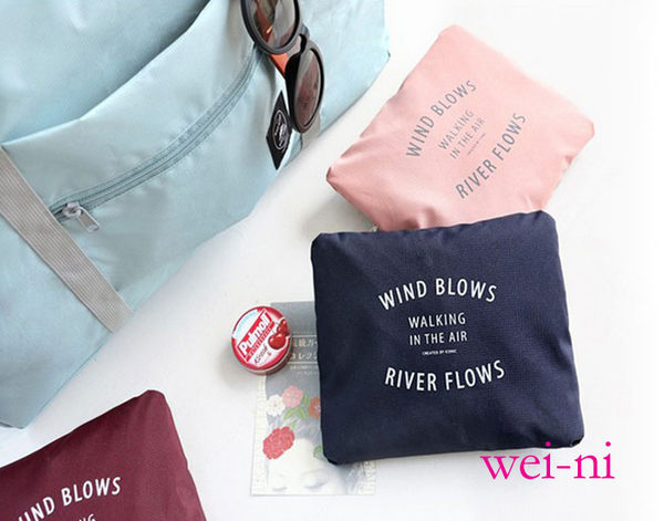 wei-ni 手提式WeekEight行李桿收納袋 旅行購物袋 旅行收納袋 旅遊整理袋 旅行收納包