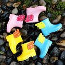 兒童雨鞋男女童防滑水鞋小童防水雨靴【時尚大衣櫥】