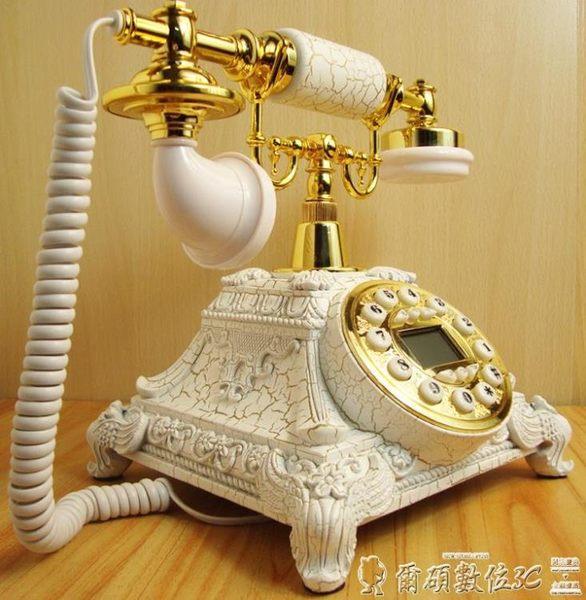 復古電話 復古電話機仿古電話機歐式個性插卡美式電話座機固家用電信 爾碩LX