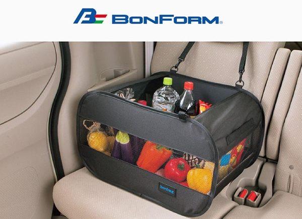 日本 BONFORM 大容量 網眼收納袋 B7525-52 車用椅後置物袋 掛式收納袋 面紙袋 手機袋 後座收納盒