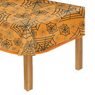 萬聖節 佈置 裝飾 塑膠桌巾-透明蜘蛛網