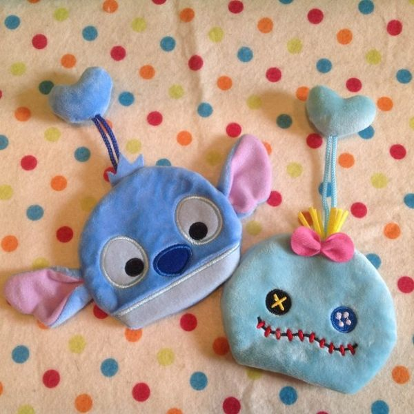 【發現。好貨】迪士尼tsum tsum 疊疊樂史迪奇 醜丫頭鑰匙包 鑰匙套 鑰匙圈 收納袋 收納包