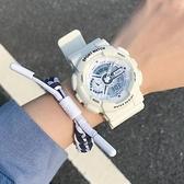 手錶 手表男霧霾藍獨角獸少女風抹茶綠初中學生運動電子表【快速出貨八折搶購】