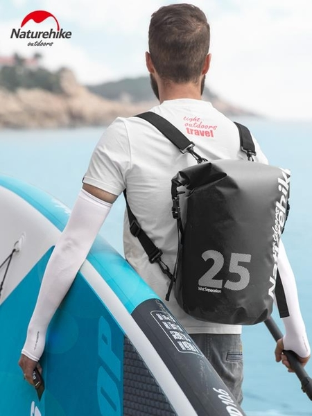 挪客 最新款雙肩防水袋 【25L】 乾溼分離沙灘背包 【狐狸跑跑】