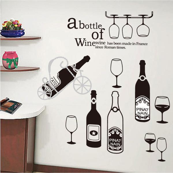 壁貼  紅酒杯 創意壁貼 無痕壁貼 壁紙 牆貼 室內設計 裝潢【YV3843】Loxin