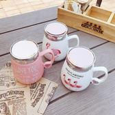 ~Z538005 ~甜美粉紅紅鶴圖案鏡面杯蓋 馬克杯湯杯陶瓷杯茶杯Recent