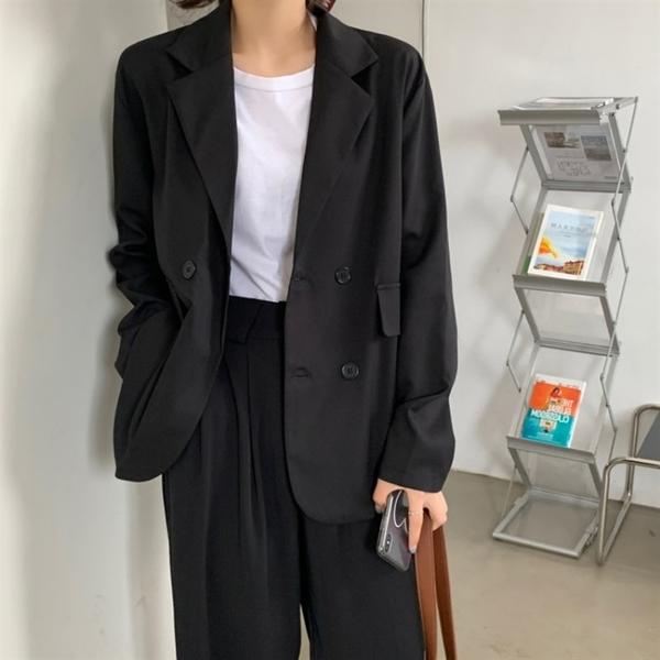 西裝外套 炸街西裝外套女春秋薄款韓版英倫風寬鬆休閒小西服黑色上衣ins潮