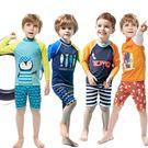兒童長袖保暖男童泳裝 中小大童男孩分體平...