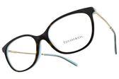 Tiffany&CO.光學眼鏡 TF2168F 8134 (黑-銀) 俐落貓眼款 眼鏡框 # 金橘眼鏡