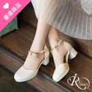 韓系時尚防水台金屬鍊條裝飾高跟涼鞋/2色...
