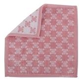 CELINE經典LOGO圖紋純棉小方巾(粉紅色)989007-207