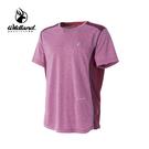 [Wildland] 男圓領配色排汗抗UV上衣 - 酒紅 (0A51608)