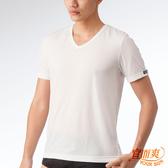 宜而爽 時尚吸濕排汗速乾型男短袖衫 白 3件組