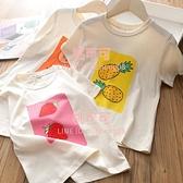 女童t恤夏季純棉短袖兒童水果印花上衣女半袖【桃可可服飾】