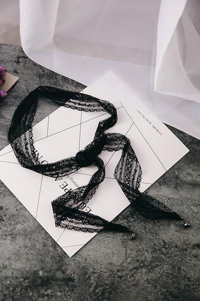 Qmigirl 氣質優雅時尚百搭蕾絲吊墜飾品長款項鍊【QG2373】