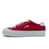 Fila 紅 女鞋 休閒鞋 運動 低筒 刺繡 小LOGO 帆布 基本款 潮流 滑板鞋 板鞋 5-C910S-221