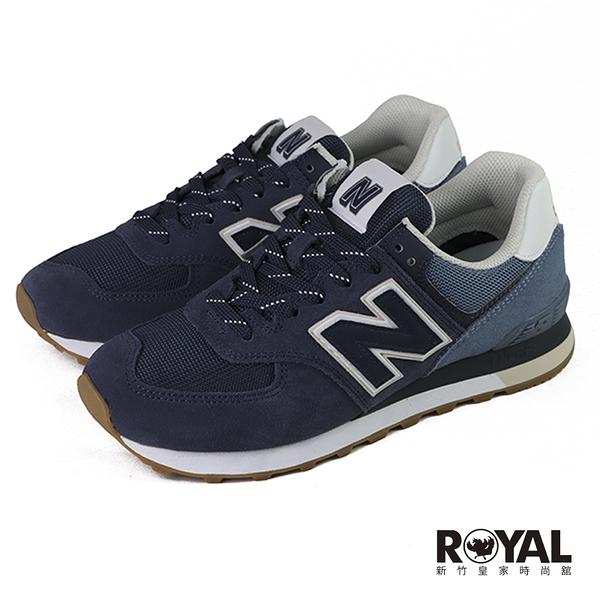 New balance 574 深藍色 麂皮 運動休閒鞋 男款 NO.B1716【新竹皇家 ML574GRE】