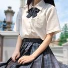 日系新款jk襯衫制服襯衣短袖夏季女單排甜美學院風方領上衣鯨思月 維多原創