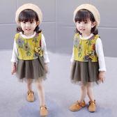 聖誕節狂歡 女童春裝新款連身裙套裝1-2-3歲女寶寶秋裙子韓版童裝嬰兒公主裙 東京衣櫃