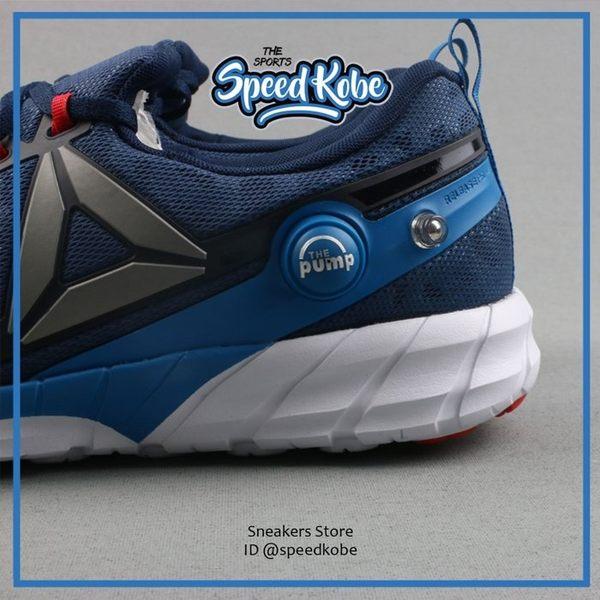 REEBOK ZPUMP FUSION 2.5 深藍紅標 充氣 PUMP 襪套 訓練 慢跑鞋 AR0086 ☆SP☆