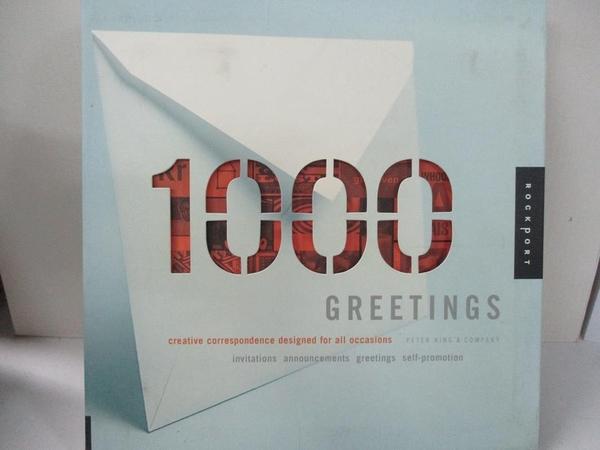 【書寶二手書T7/廣告_J8E】1,000 Greetings_King, Peter