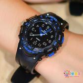 學生手錶男孩電子錶防水韓版指針錶青少年手錶兒童手錶運動石英錶