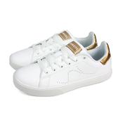 KANGOL 休閒運動鞋 女鞋 白/金 皮質 6822240206 no056