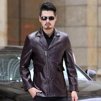 皮衣夾克-冬季西裝領純色薄款男外套4色73pn3【巴黎精品】