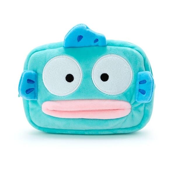 小禮堂 人魚漢頓 造型絨毛面紙零錢包 絨毛零錢包 面紙包 小物包 (藍 生日漫畫) 4550337-44443