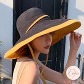 遮陽帽夏季超大帽檐漁夫帽子女大沿帽防曬太陽帽遮臉【大碼百分百】