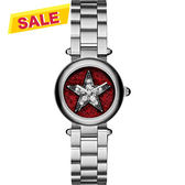 Marc Jacobs Dotty 紐約之星魔幻晶鑽女錶-紅x銀/26mm MJ3479