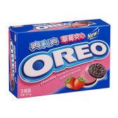 奧利奧OREO 巧克力三明治餅乾草莓口味411g ~愛買~
