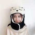 帽子 帽子女秋冬季電動車騎車防風帽擋風雷鋒帽護耳保暖棉帽男百搭可愛