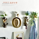 美式創意門口玄關試衣間掛鉤花插花器個性壁掛鑰匙架裝飾衣帽鉤 DF玫瑰