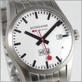 【萬年鐘錶】MONDAINE 瑞士國鐵 39mm鋼錶 XM-667016M