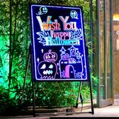 LED電子60*80熒光板手寫廣告展示牌發光夜光屏立式寫字黑板留言板 巴黎春天