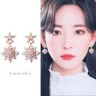 925純銀針  韓國優雅氣質奢華、華麗設計感耳環-維多利亞190750