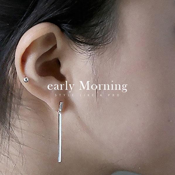 early Morning - 925純銀 線條簡約耳環 韓國 設計師原創【CHF006】