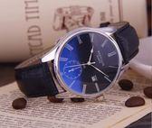 真皮帶手錶男士休閒防水簡約運動情侶腕錶女學生時尚潮石英錶機械   花間公主