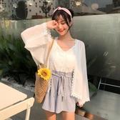 夏裝2018新款女裝開衫雪紡衫女薄款披肩防曬衣【免運】
