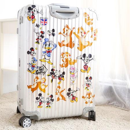正版迪士尼行李箱裝飾貼紙(12枚入) 行李箱貼紙 米奇 史迪奇 公主 奇奇蒂蒂 維尼 三眼怪 唐老鴨