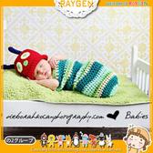 童裝 嬰兒 攝影 寫真 彌月禮 毛毛蟲 睡袋 手工 針織