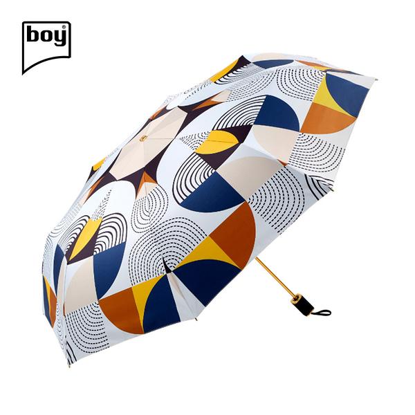 【德國boy】三折超輕黑膠防曬防潑水晴雨傘 (漣漪)