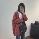 【限時下殺79折】好康推薦秋冬新款女裝正韓寬鬆顯瘦針織開衫女款純色毛衣外套上衣潮