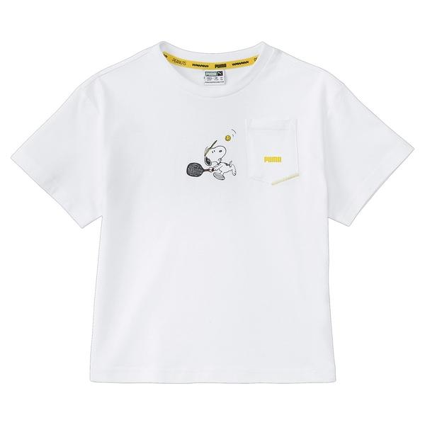 【現貨】PUMA x PEANUTS 童裝 大童 短袖 純棉 聯名 史奴比 口袋 休閒 白【運動世界】59945802